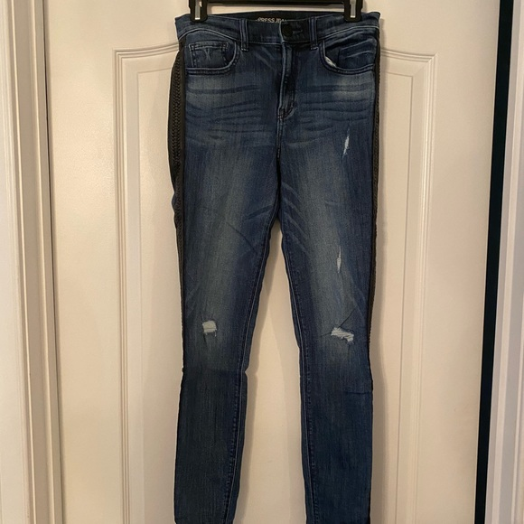 Dark wash Express skinny jeans